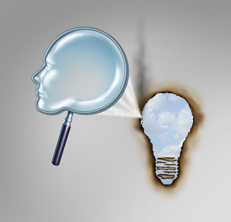 Concept humain de créativité illustration de vecteur