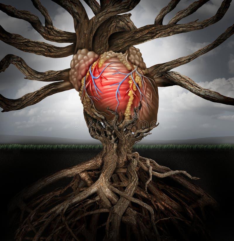 Concept humain de santé de coeur illustration de vecteur