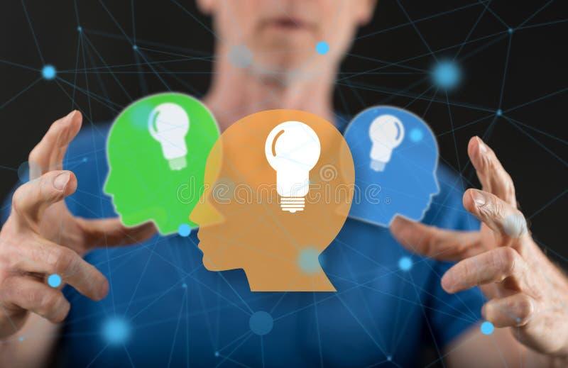 Concept of human brain ideas royalty free stock photo