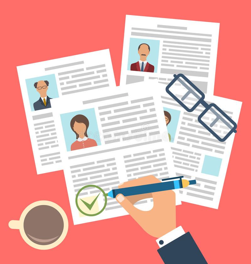 Concept of Human Resources Management royalty free illustration