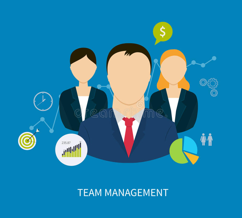 Concept of human resources and teamwork royalty free illustration