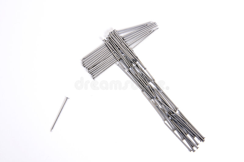Download Concept Of Hummer And Nails Stock Image - Image: 7388815