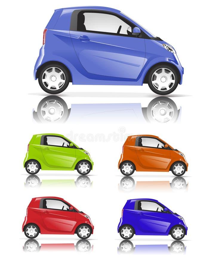 Concept hybride coloré de voiture familiale illustration stock