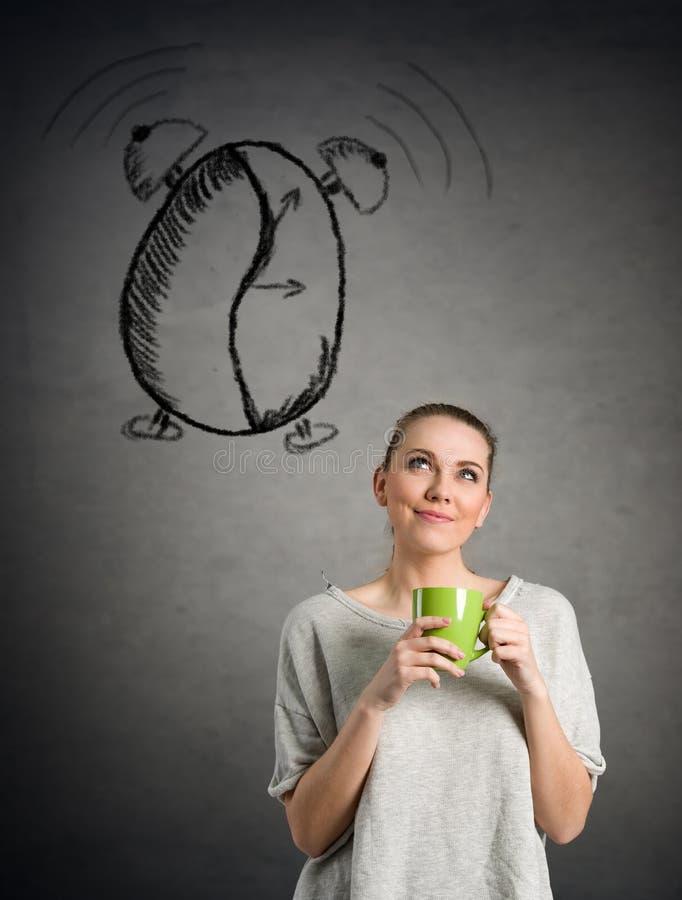 Concept I liefdekoffie stock foto