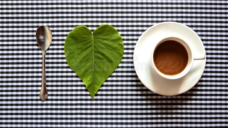 Concept I-liefdekoffie royalty-vrije stock afbeeldingen
