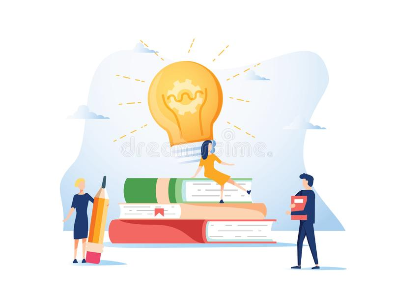 Concept idea, raising a career to success for web page, banner, presentation, social media, documents, cards, posters. royalty free illustration