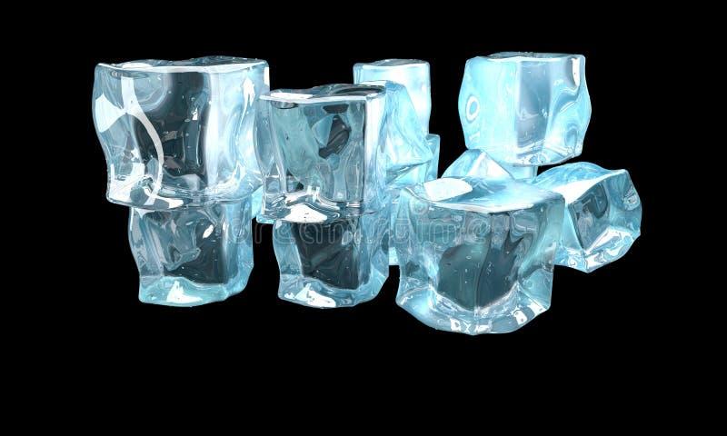 Concept ijs stock illustratie