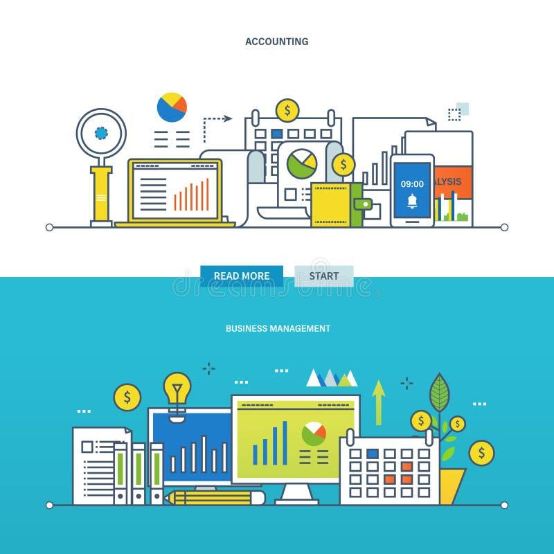 Concept illustratie - financieel beheer en rapportering, zaken royalty-vrije illustratie