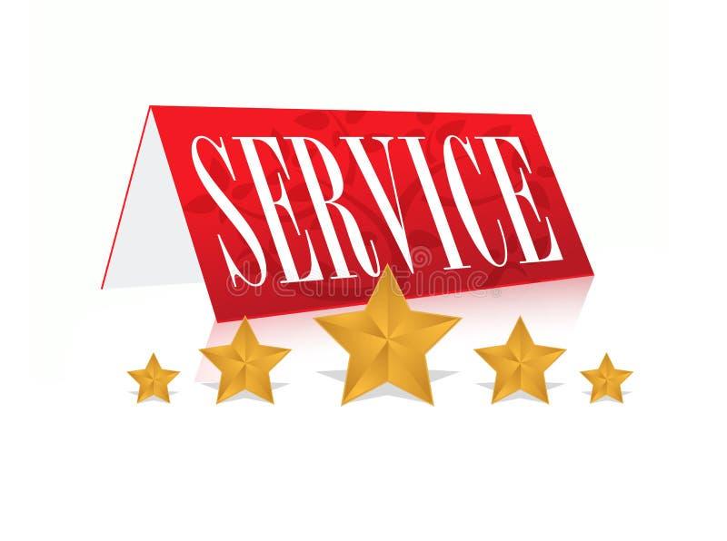 Concept illustration of 5 star service