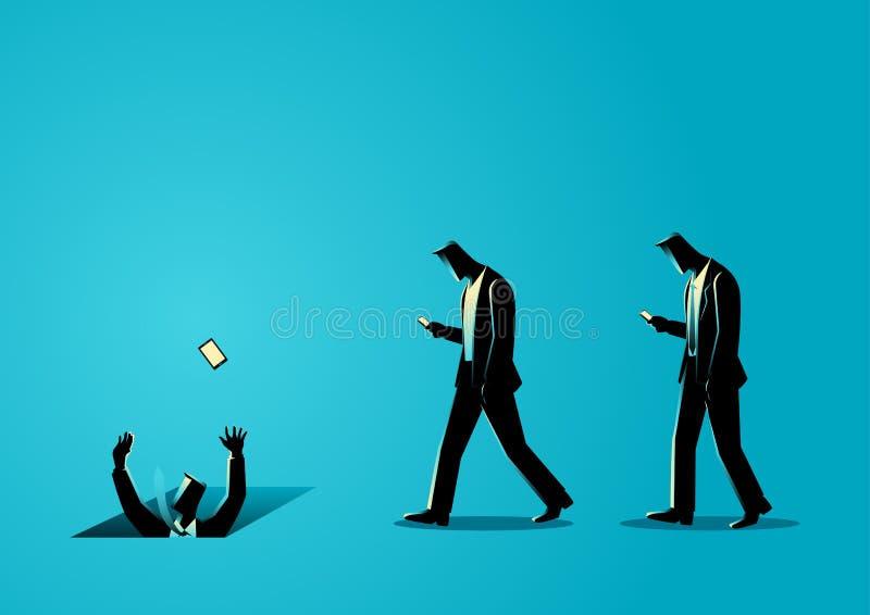 Social media impact royalty free illustration