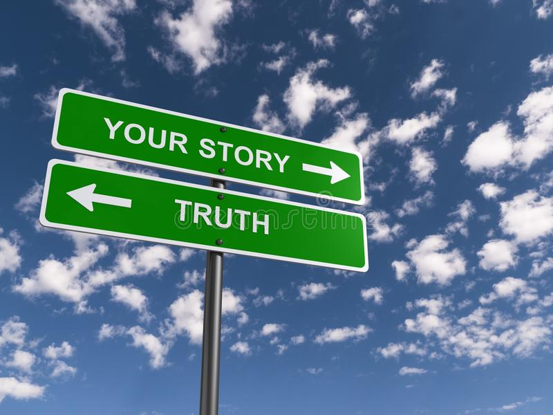 Truth versus your story royalty free stock photos