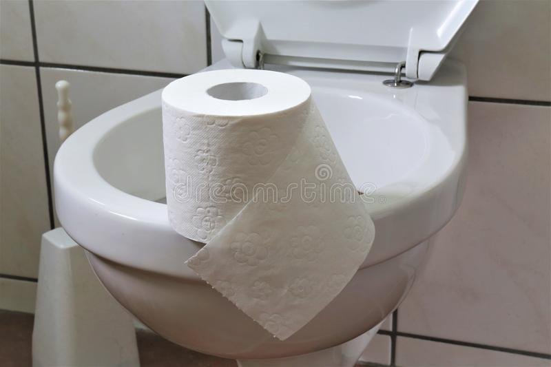 An concept Image of a bathroom with toilet paper, bathroom. Abstract royalty free stock images