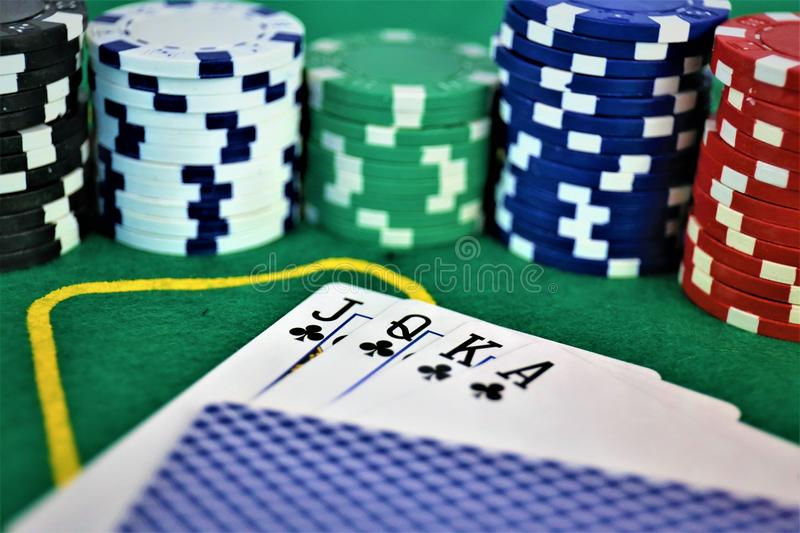 An concept Image of a Casino gambling, chips. Abstract royalty free stock photo