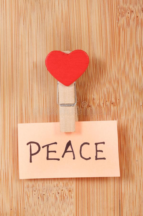Peace. Concept image of peace on wooden background stock photos