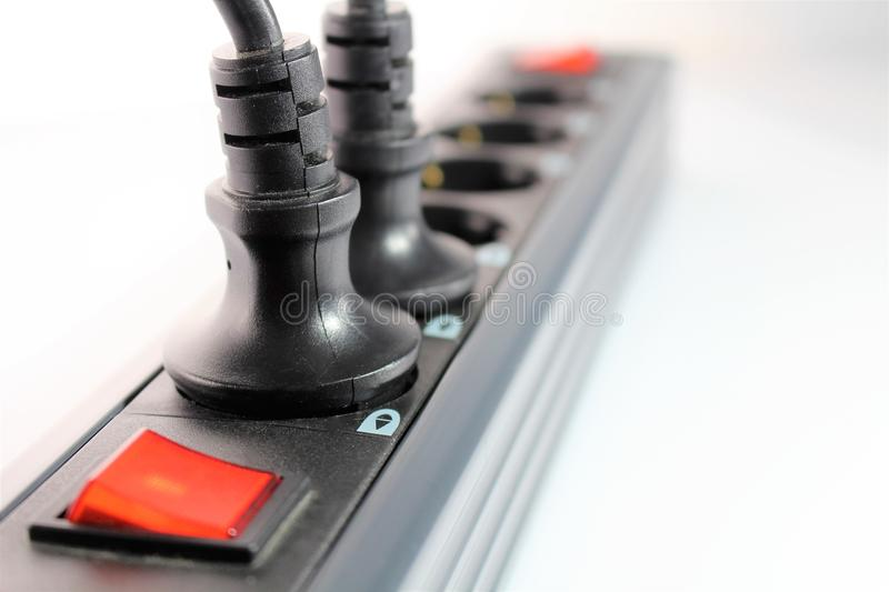 An concept Image of a power strip, technology. Abstract royalty free stock photos