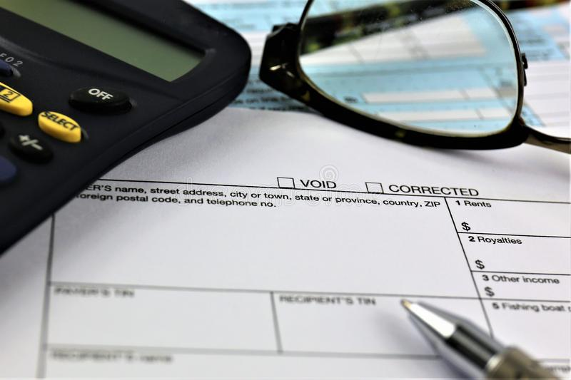 An concept Image of a tax return form royalty free stock photography