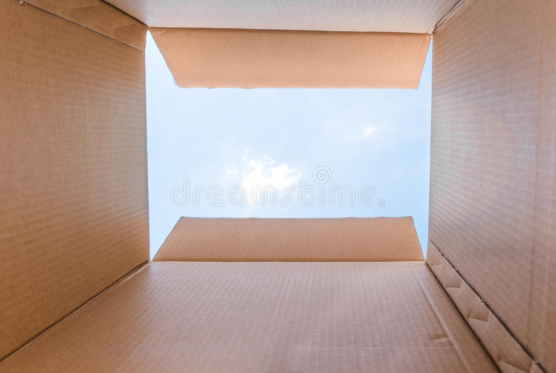 Concept image `Thinking Outside the Box` royalty free stock images