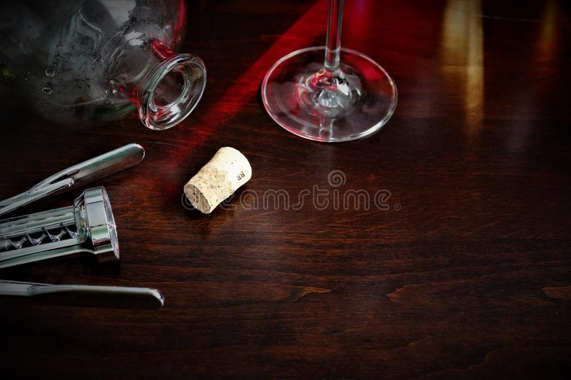 An concept Image of a wineglass, alcohol, wine stock photo