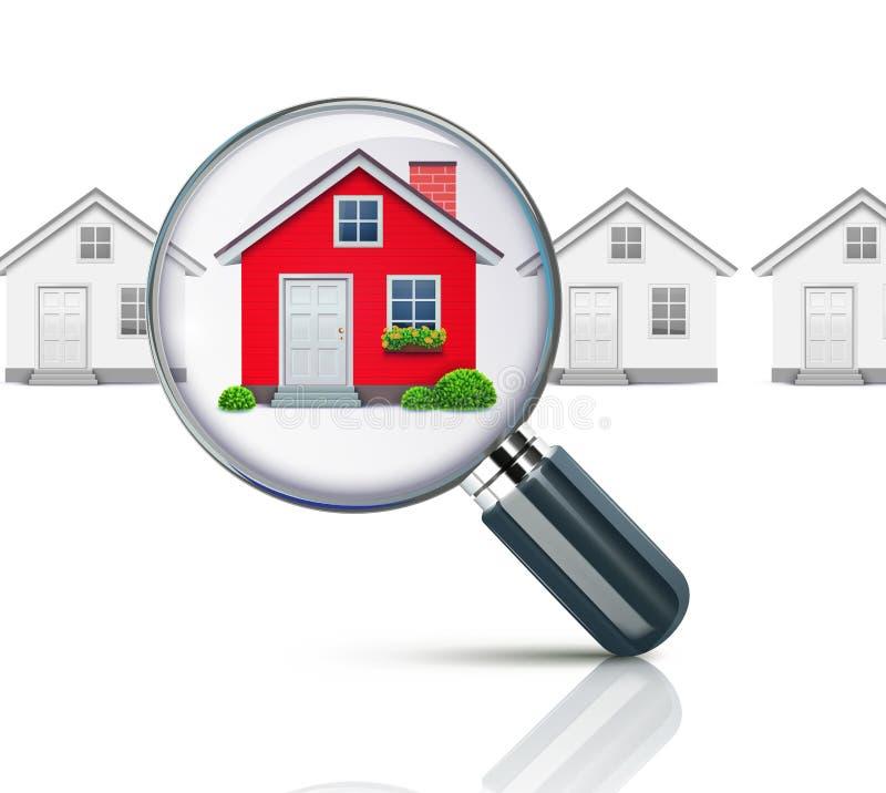 Concept immobilier illustration libre de droits
