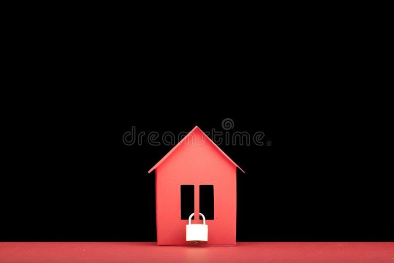 Concept - immobiliers de sécurité image stock