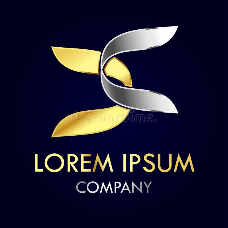 Concept impressionnant de logo de la lettre c illustration stock