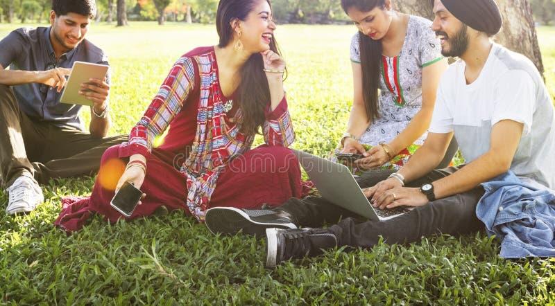Concept indien d'unité d'amitié d'appartenance ethnique images stock