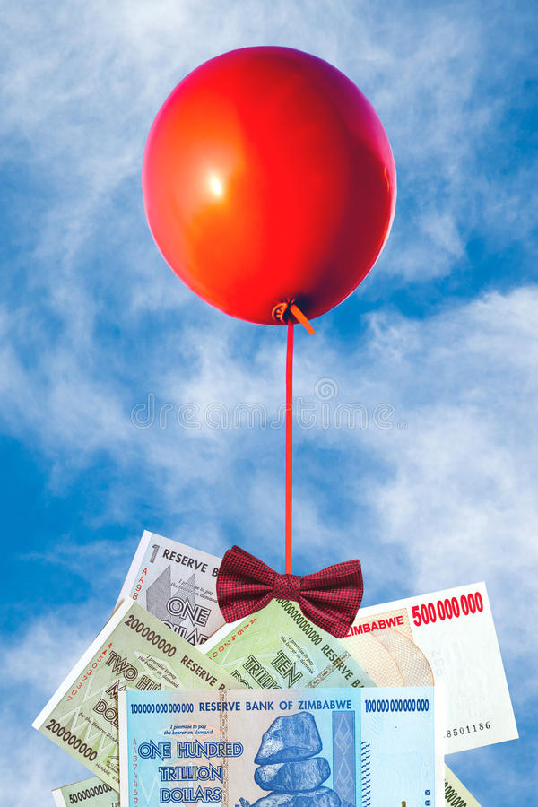 Concept of inflation and currency fluctuations, Hyperinflation, stock photos