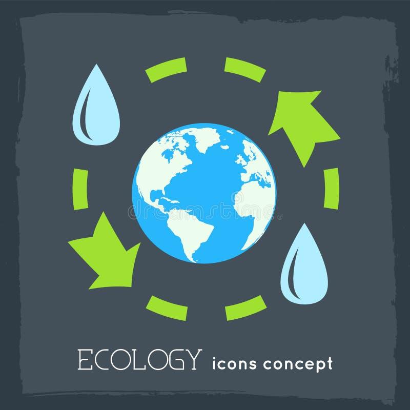 concept infographic de fond d'eco plat de cycle Conception d'illustration de vecteur illustration stock