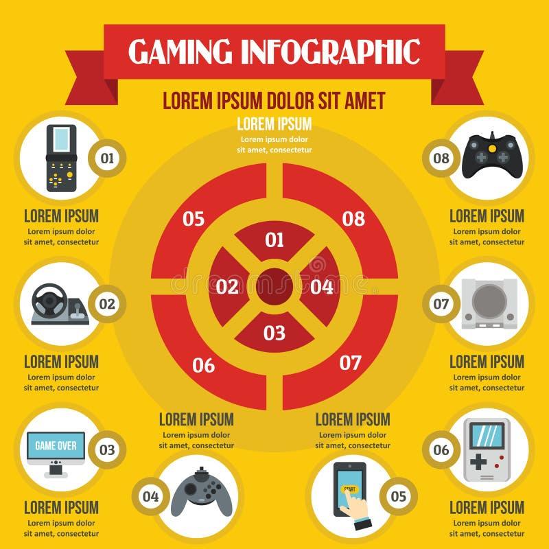 Concept infographic de jeu, style plat illustration de vecteur