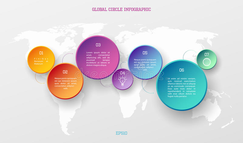 Concept infographic global illustration stock