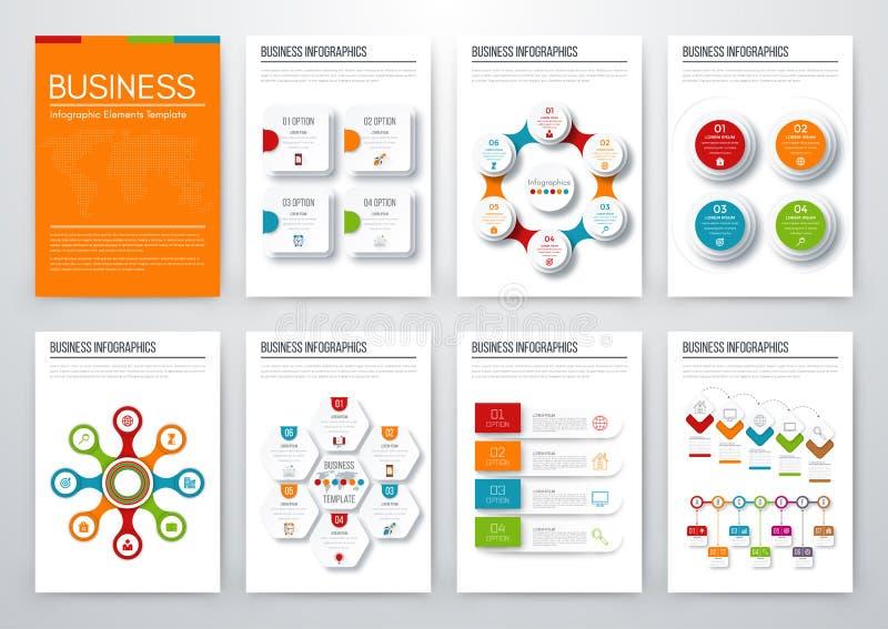 Concept infographic moderne de vecteur illustration stock