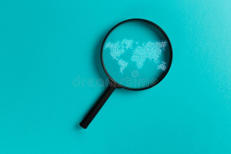 Concept information search stock illustration
