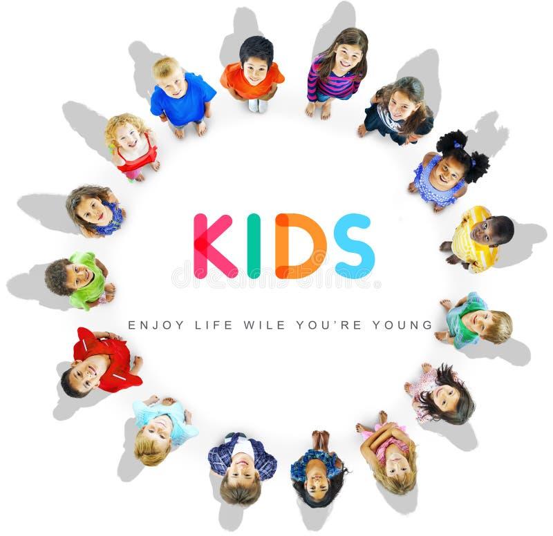Concept innocent de jeunes d'enfant d'enfants d'enfants photo libre de droits