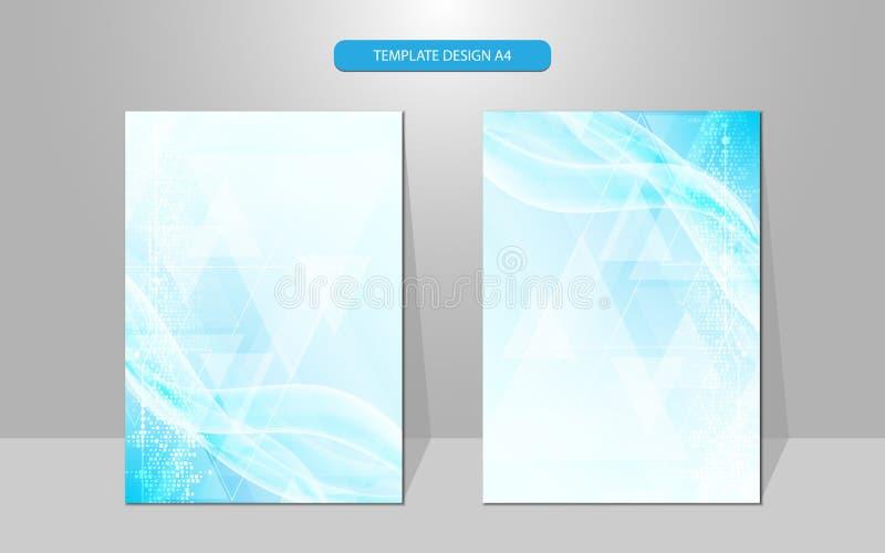 Concept innovateur de technologie de calibre de conception de couverture d'abrégé sur vecteur illustration libre de droits