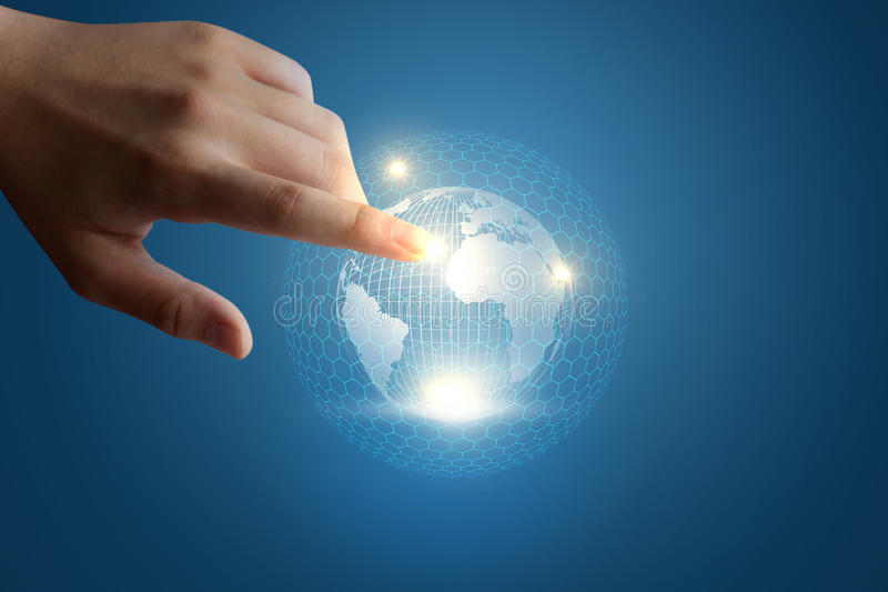 Concept innovatieve technologie in globale zaken royalty-vrije stock afbeelding