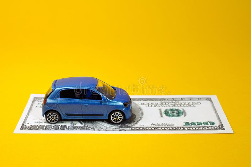 Concept of insurance or credit and car purchases. Concept of insurance, credit and car purchases, leasing, car loan,  Auto dealership and rental, new car buy royalty free stock images