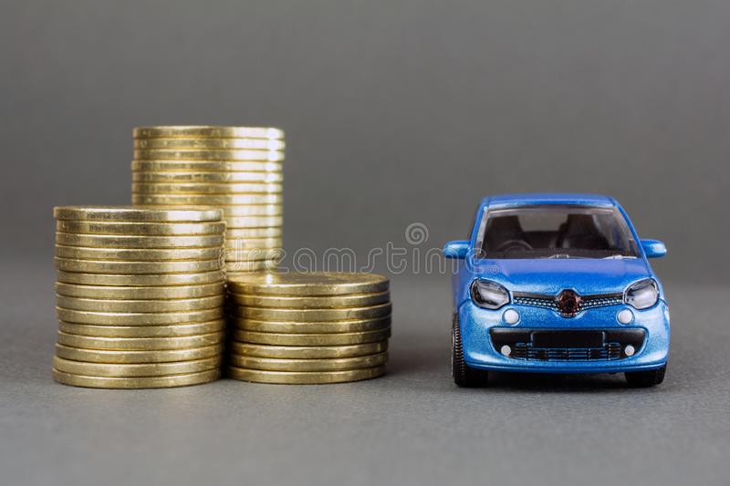 Auto dealership and rental car stock image
