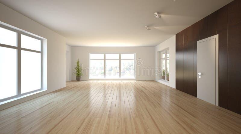 Concept int rieur blanc pour le salon illustration stock for Piani di costruzione di appartamenti