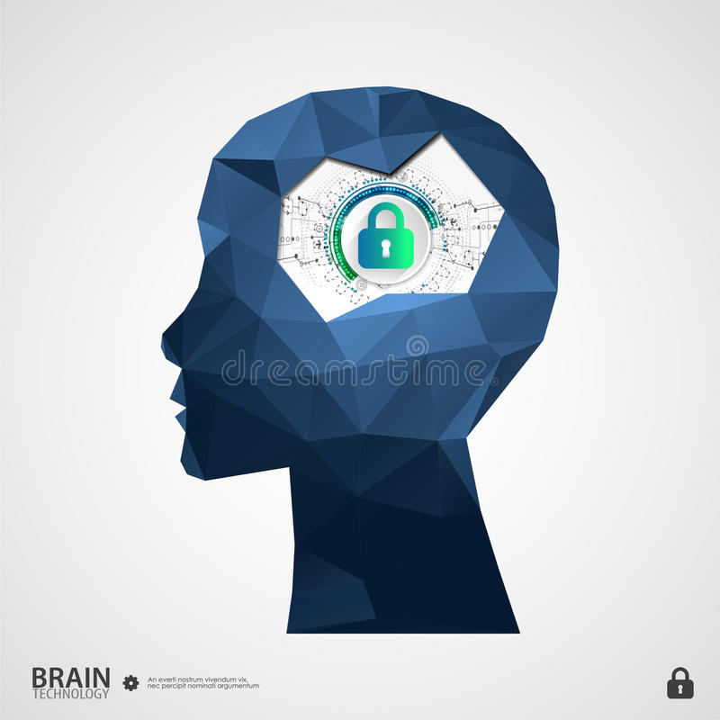 The concept of intellectual property protection. Vector illustration stock illustration