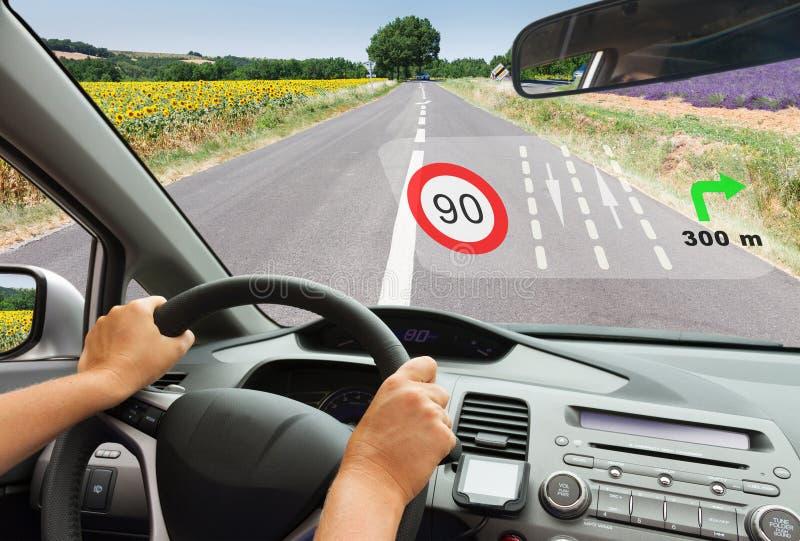 Concept intelligent de véhicule photos libres de droits