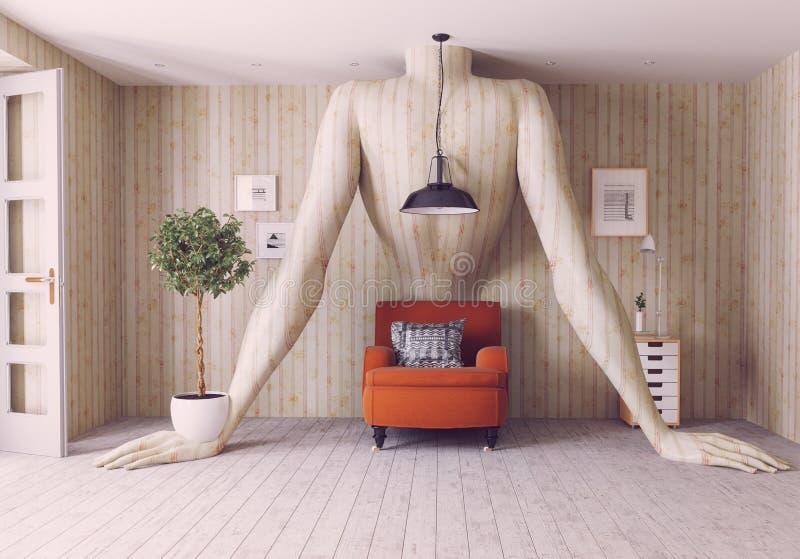 Concept interior vector illustration