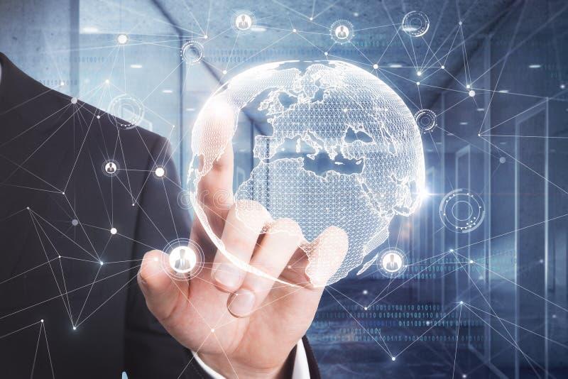 Concept international d'affaires et de science image libre de droits