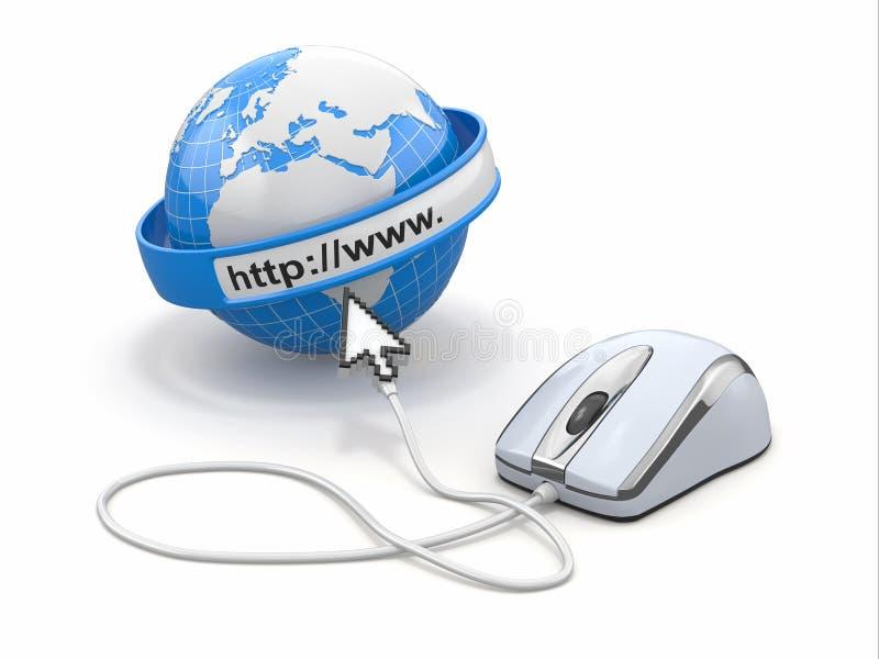 Concept Internet browser. stock illustratie