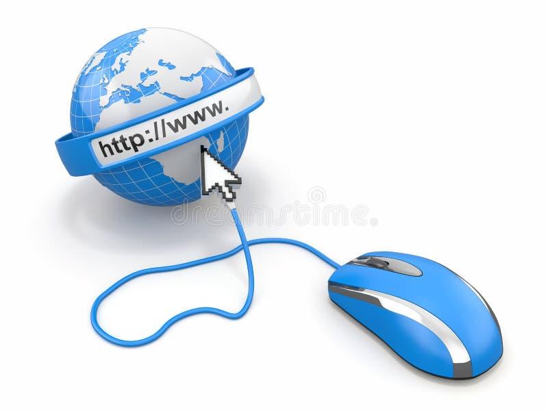 Concept Internet browser. royalty-vrije illustratie