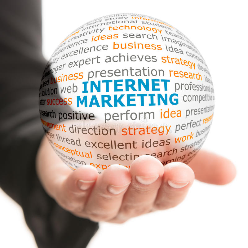 Concept Internet-marketing in zaken stock fotografie