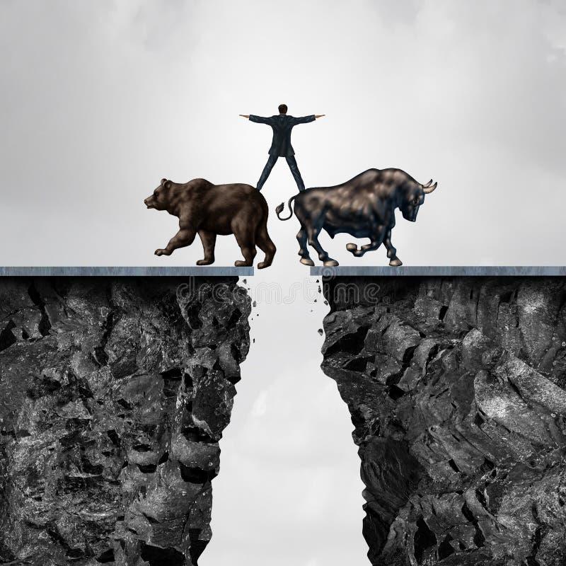 Concept Investeringsrisico stock illustratie