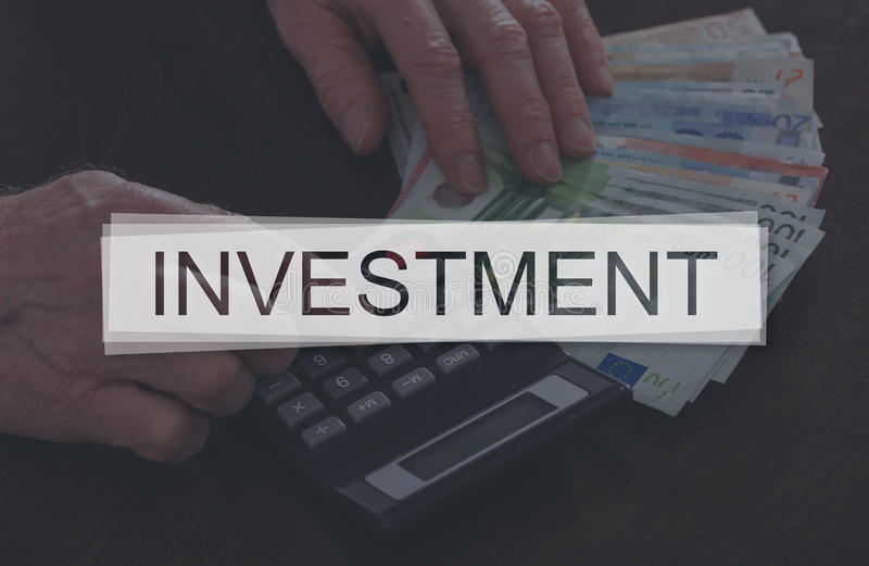 Concept of investment. Investment concept illustrated by a picture on background royalty free stock images