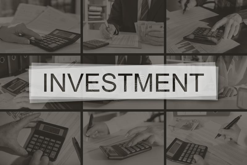 Concept of investment royalty free stock image