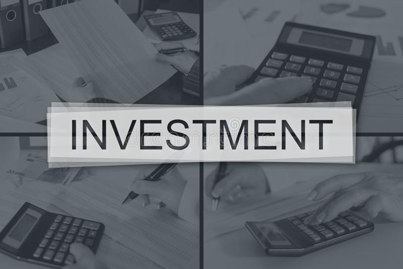 Concept of investment stock photography