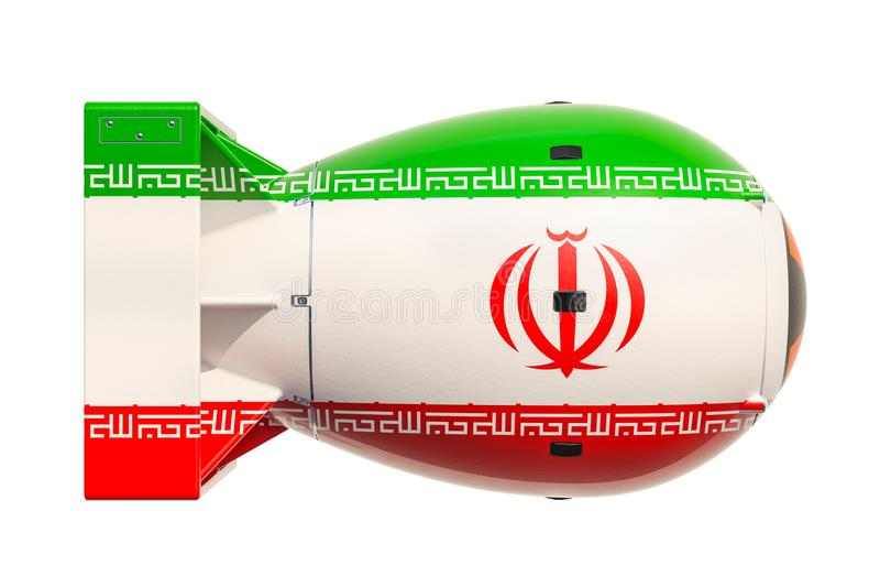 Concept iranien d'arme nucléaire, rendu 3D illustration de vecteur